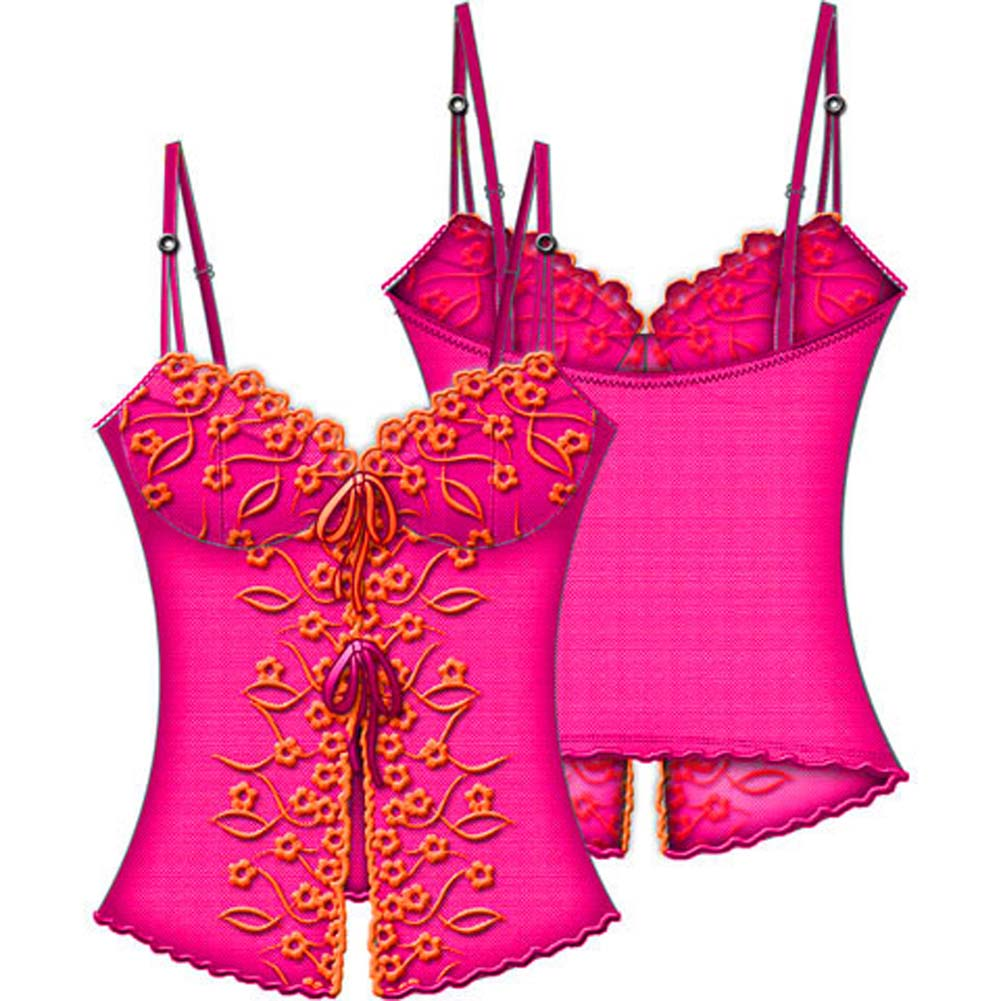Necessary Objects La Chiquitea Underwire Open Front Cami 34D Pink - View #2
