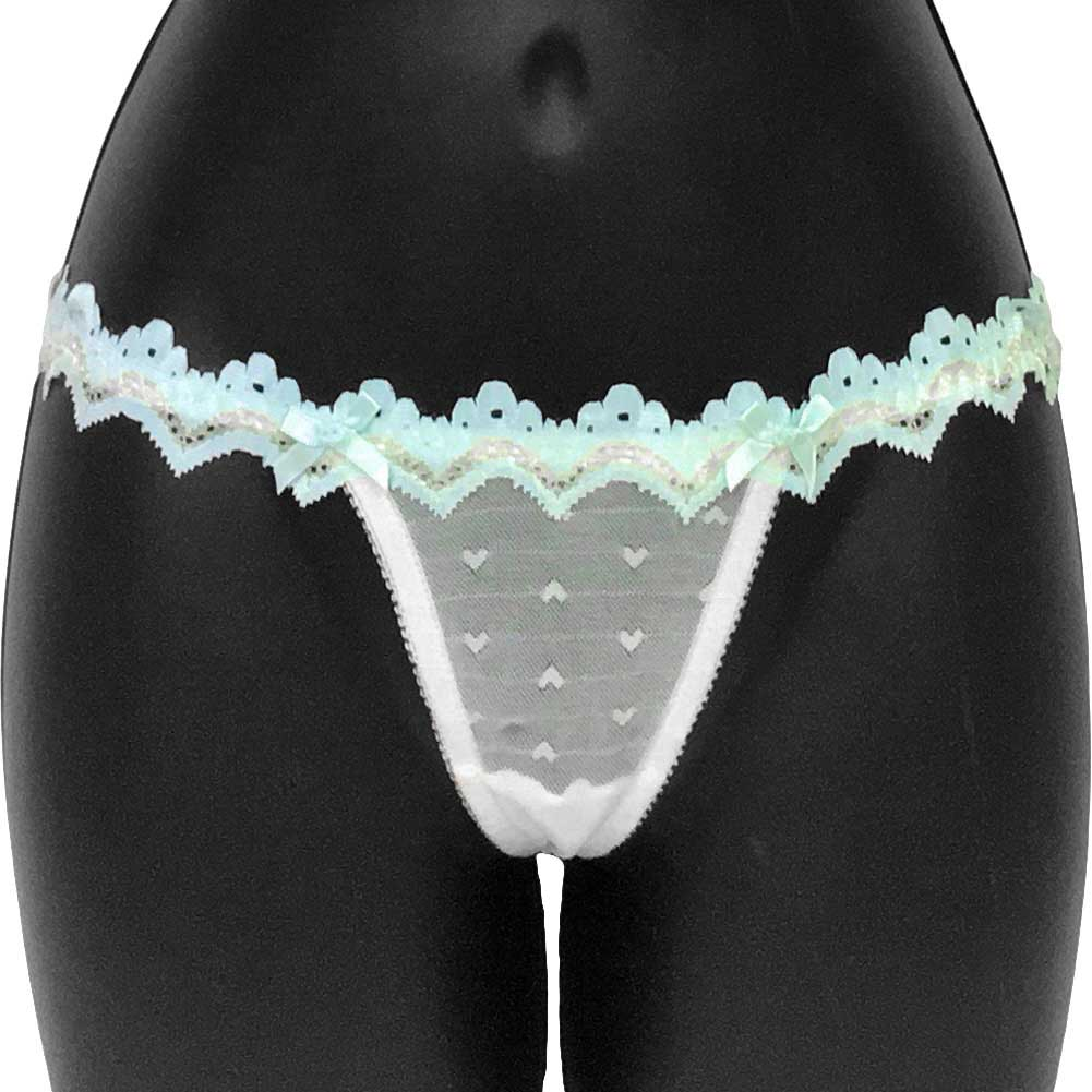 Necessary Objects Bright Idea T String Panty for Her Large White - View #1
