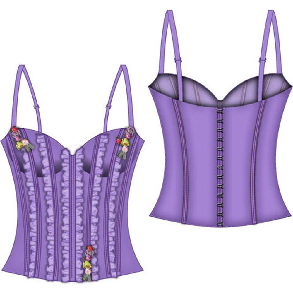 Fairy Princess Lined Boning Corset Small Lavender - View #2