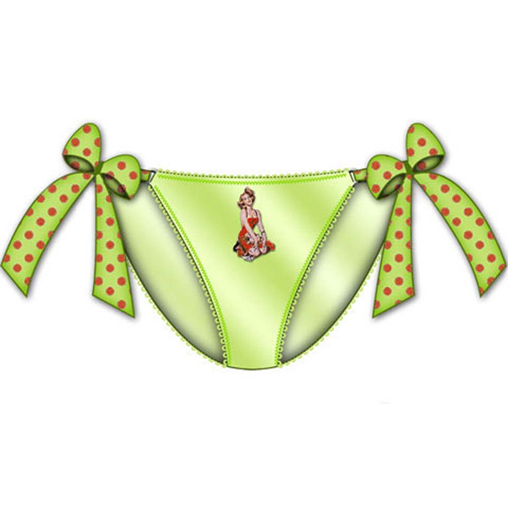 Centerfold Tied Bows Bikini Small Green - View #1