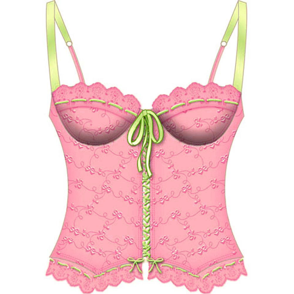 Lost In Paradise Bone Underwire Bustier 36B Pink - View #2