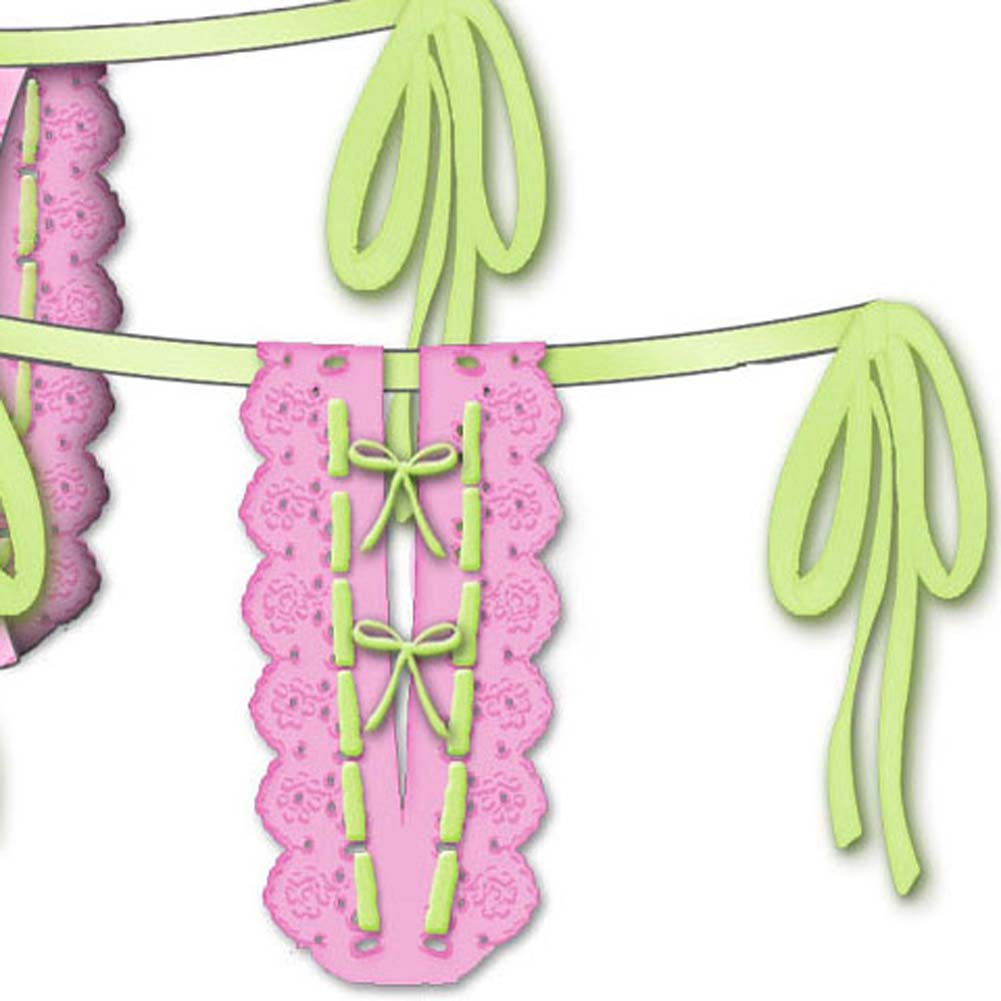 Lost In Paradise Tied Waist Thong Large Pink - View #3