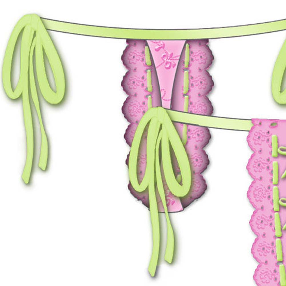 Lost In Paradise Tied Waist Thong Large Pink - View #4