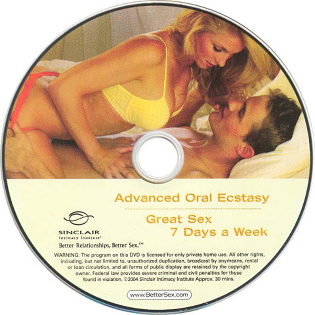 Advanced Oral Ecstasy and Great Sex 7 Days a Week DVD - View #1