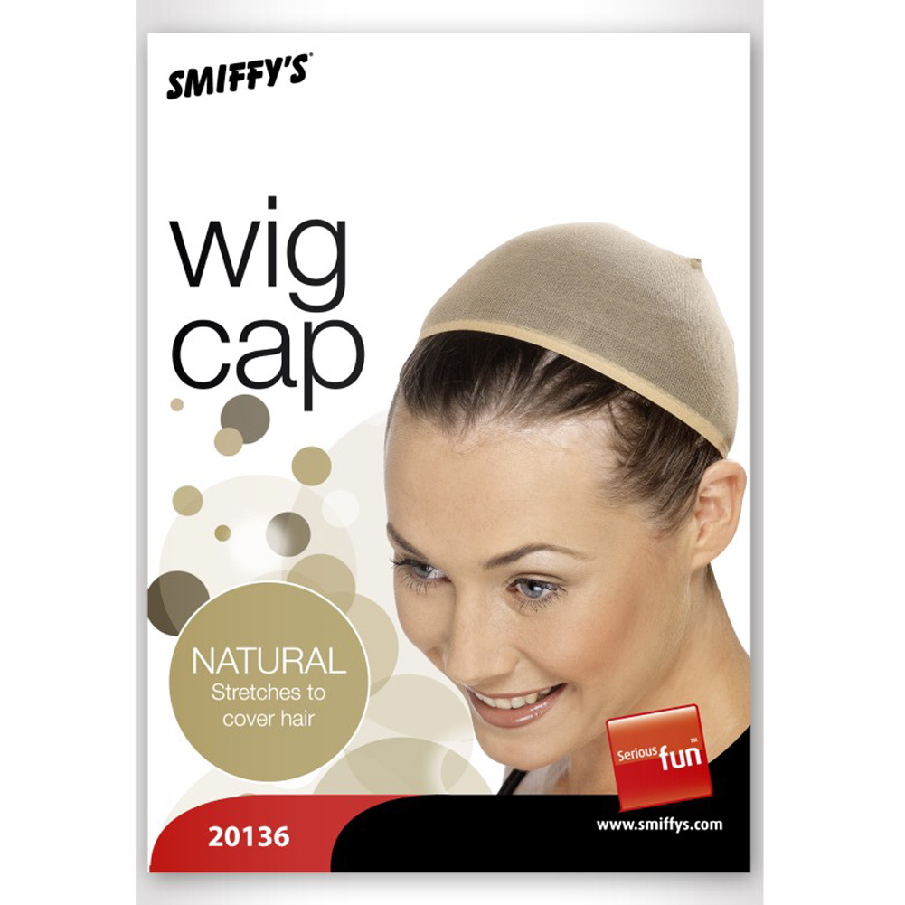 Smiffys Wig Cap Costume Accessory One Size Nude - View #3