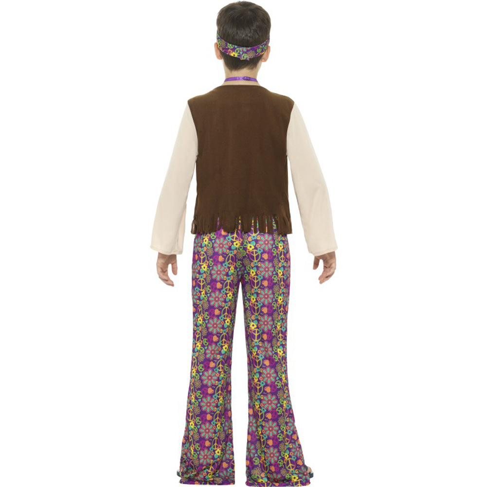 Hippie-Boy-Costume-with-Top-Attached-Waistcoat  sc 1 st  eBay & Hippie Boy Costume with Top Attached Waistcoat 689308593447 | eBay