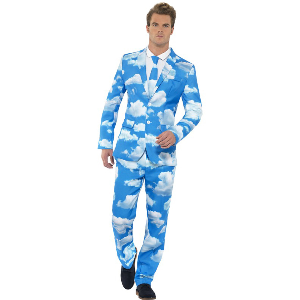 Smiffys Sky High Suit Medium Blue - View #1