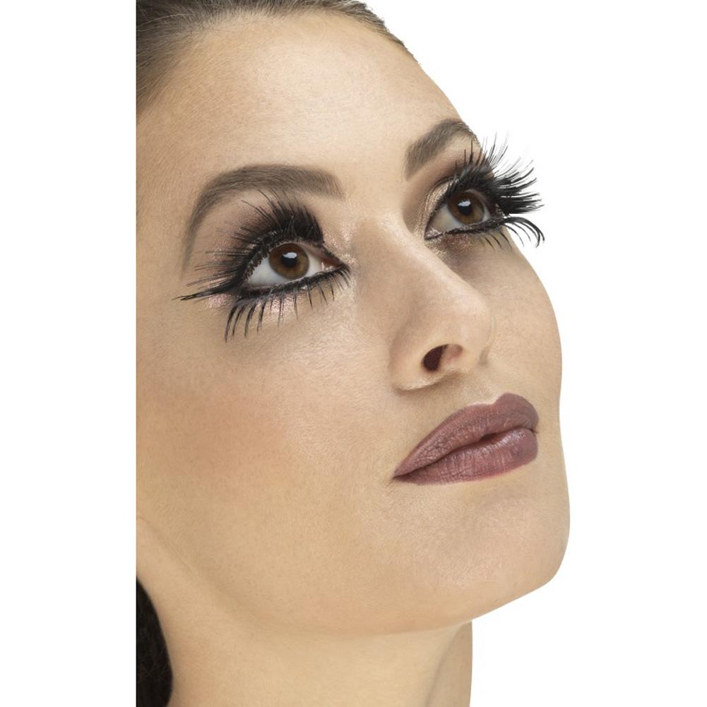 Smiffys Winged Eyelashes One Size Black - View #1