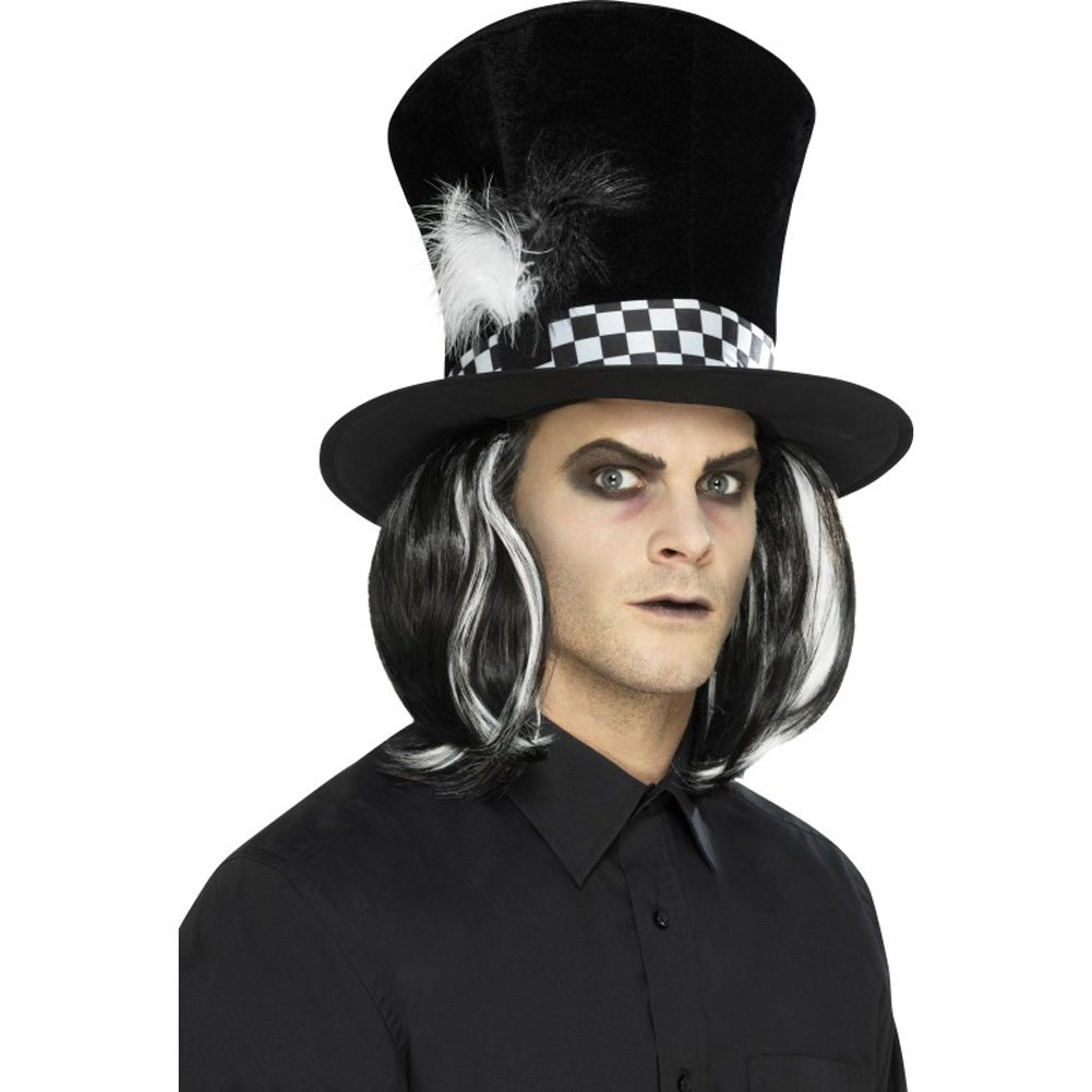 Buy Dark Tea Party Top Hat Black With Hair (uk Import) AC online  5539377cdfb