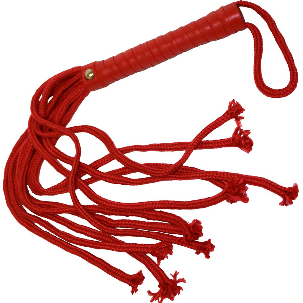 "S and M Soft Rope Flogger by Sportsheets 24"" Red - View #2"