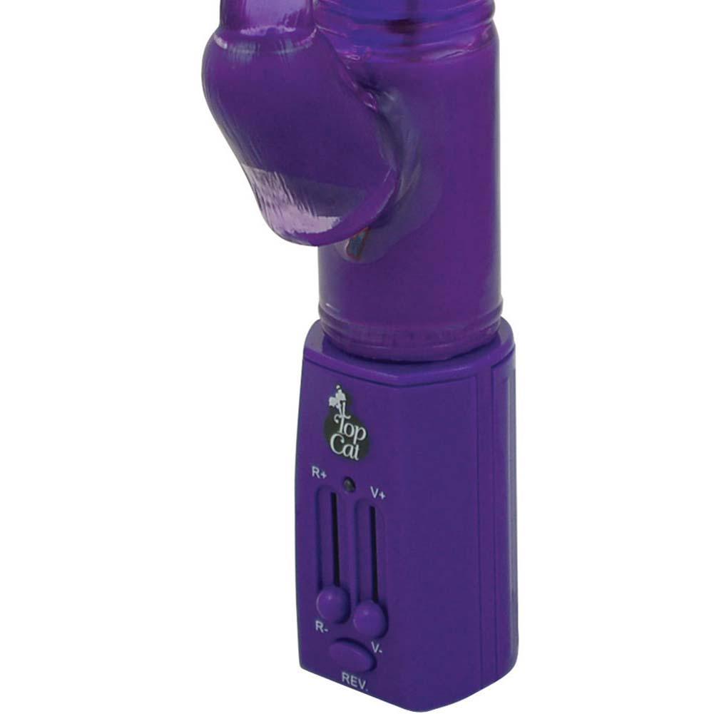 "Erotic Bunny Dual-Action Vibrator 11.5"" Sexy Purple - View #3"