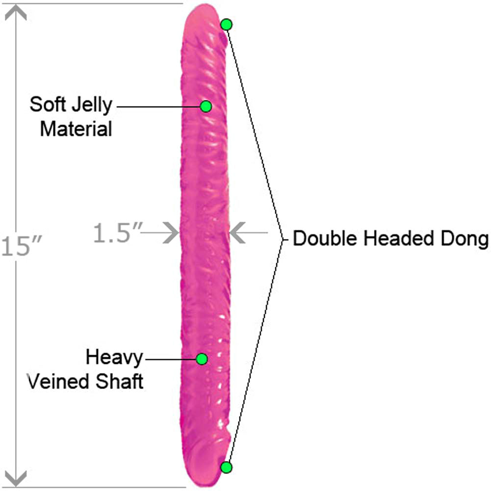 """Flexible Jelly Double Dong 15"""" ASSORTED COLORS - View #1"""