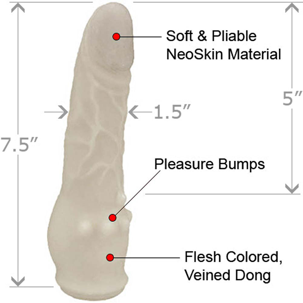 """Clitterific NeoSkin Dong with Clitoral Bumps 7.5"""" Ivory - View #1"""