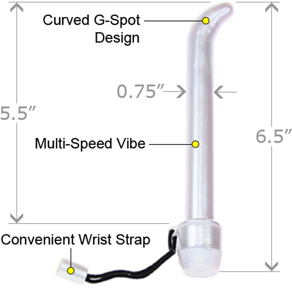 "Ultra Slim G-Spot Vibe with Nubby CyberSkin Sleeve 6.5"" - View #1"