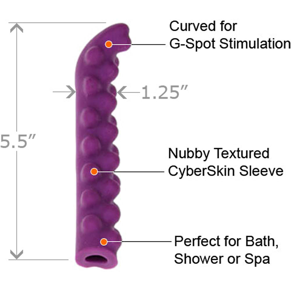 "Ultra Slim G-Spot Vibe with Nubby CyberSkin Sleeve 6.5"" - View #3"