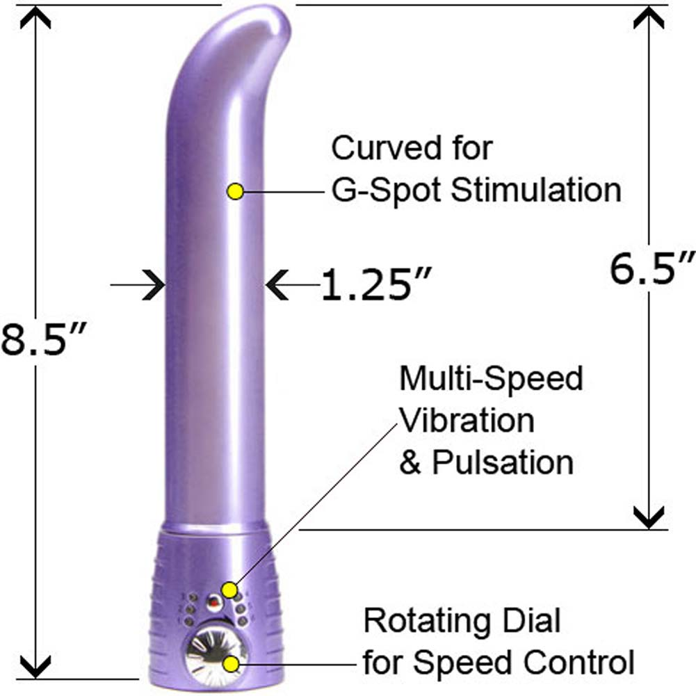 """Adam and Eve Satin G-Spot Intimate Vibrator for Women 8.5"""" Soft Violet - View #1"""