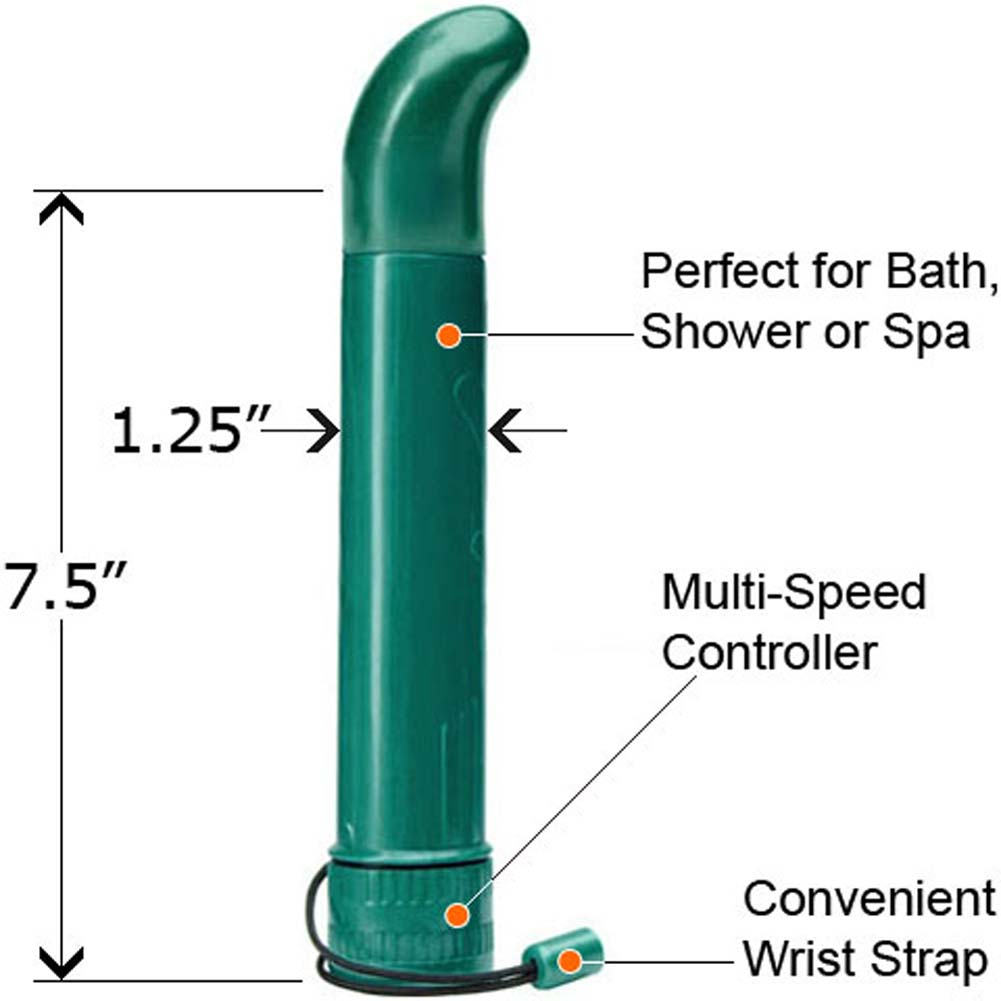 Variations Sensual Vibrating Massager with 4 Interchangeable Heads Green - View #1