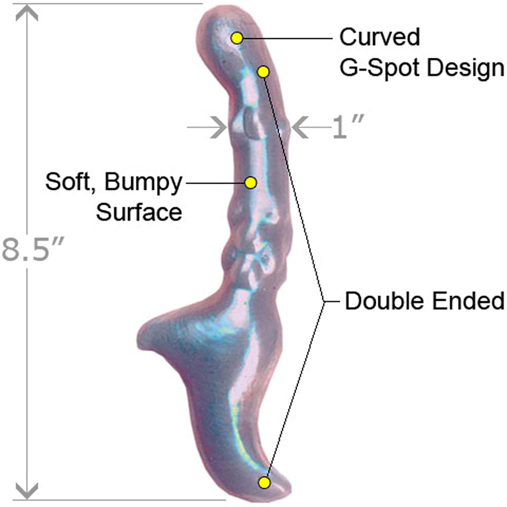 """Adam and Eve Bendable Ladies Curvy G-Spot Dong 8.5"""" Purple - View #1"""