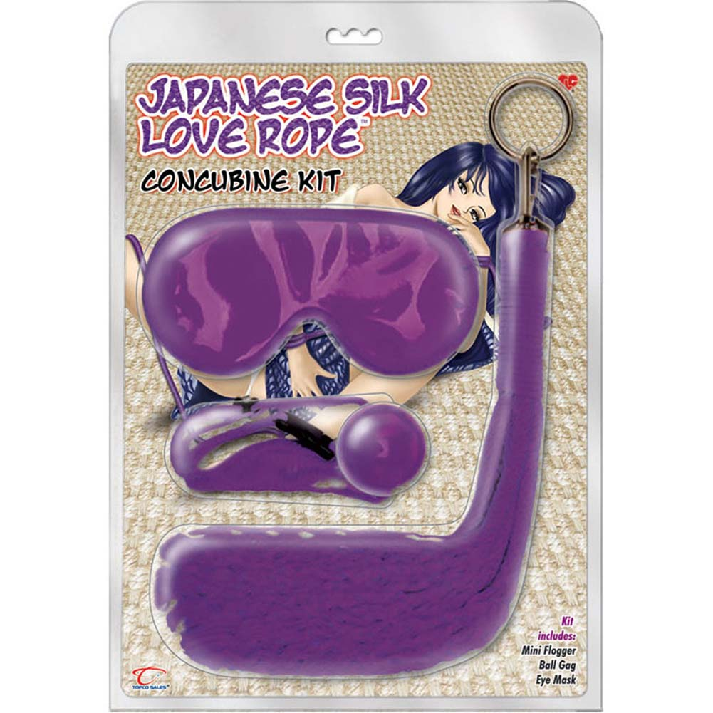 Japanese Silk Love Rope Concubine BDSM Bondage Kit Purple - View #3