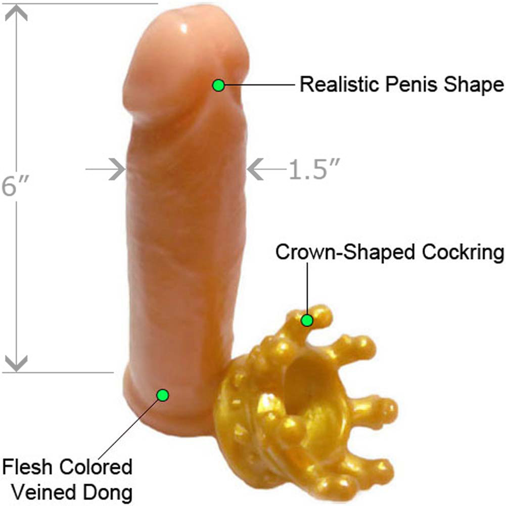"Prince Willy Yum Dong and Crown Cockring Set 6"" Natural - View #1"