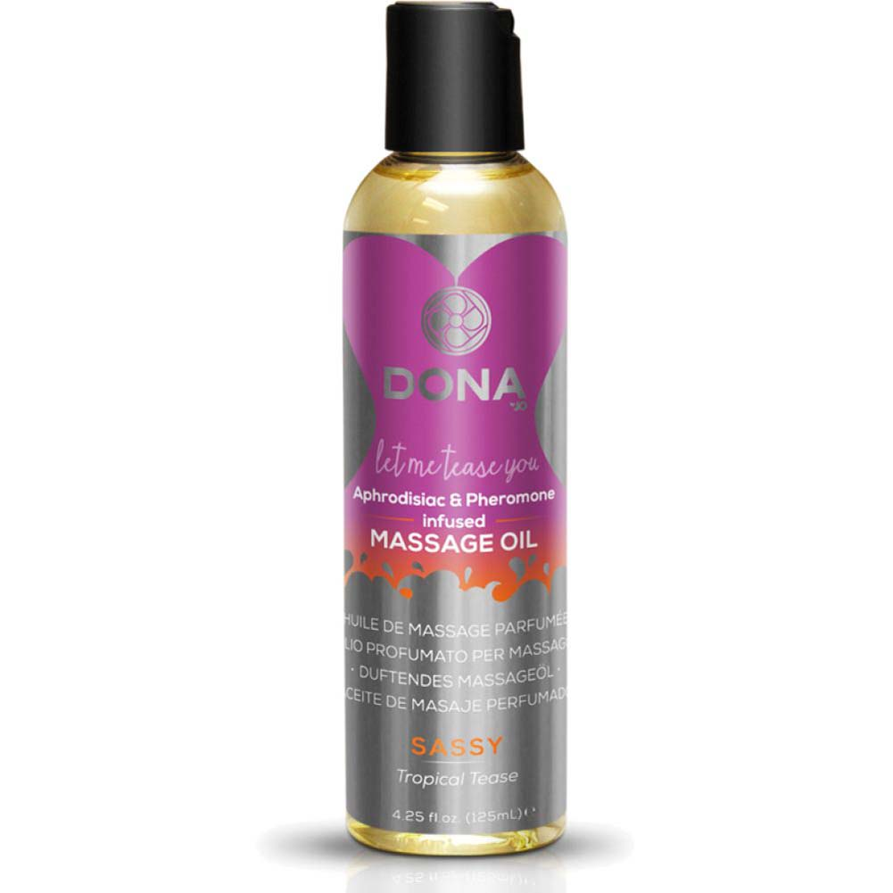 DONA Scented Massage Oil 4.25 Fl.Oz 125 mL Sassy Tropical Tease Aroma - View #1