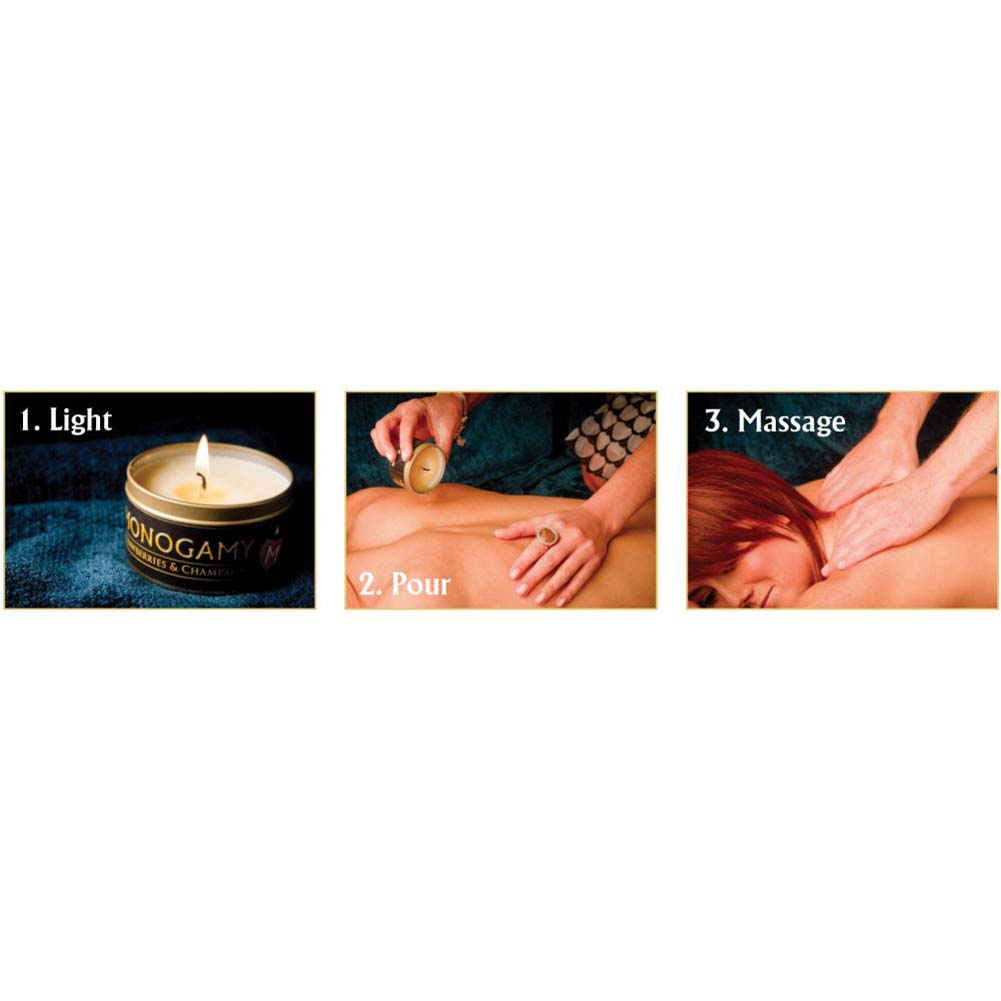 Monogamy Small Massage Candle Intimate Strawberry And Champagne - View #1