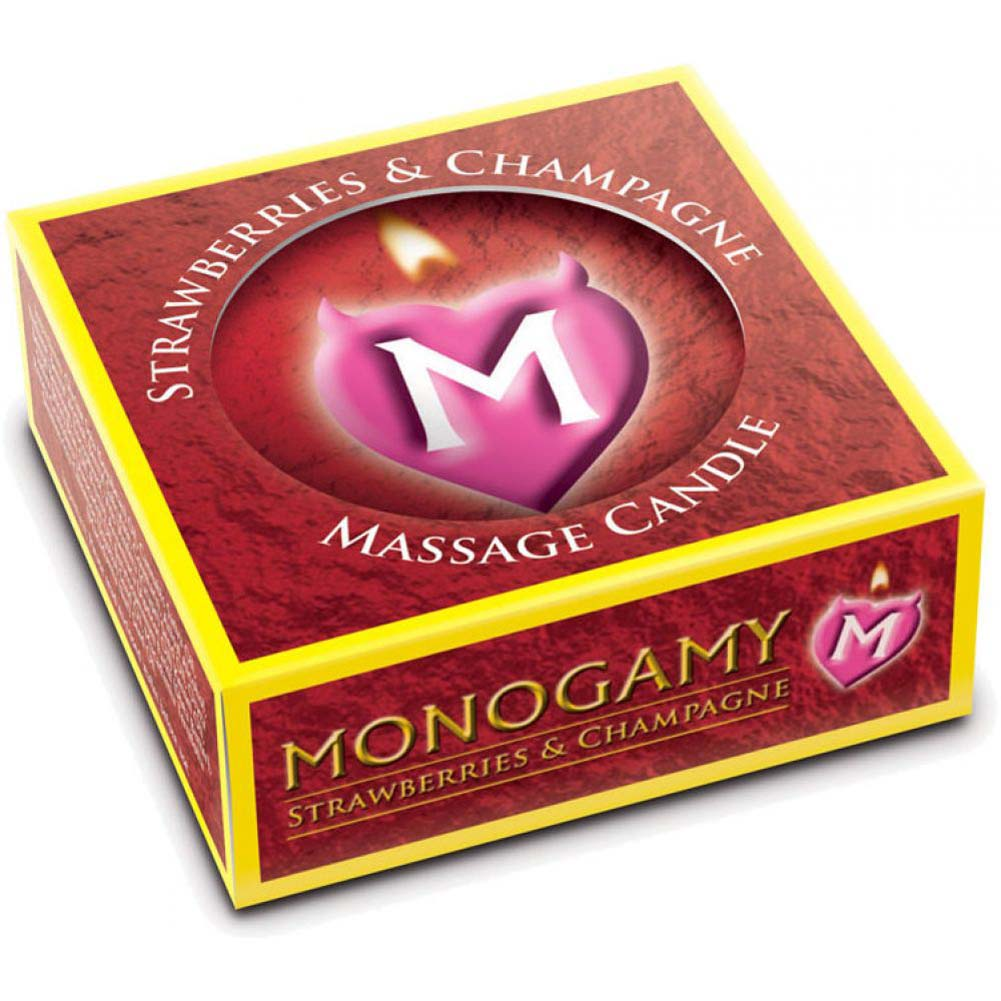 Monogamy Small Massage Candle Intimate Strawberry And Champagne - View #2