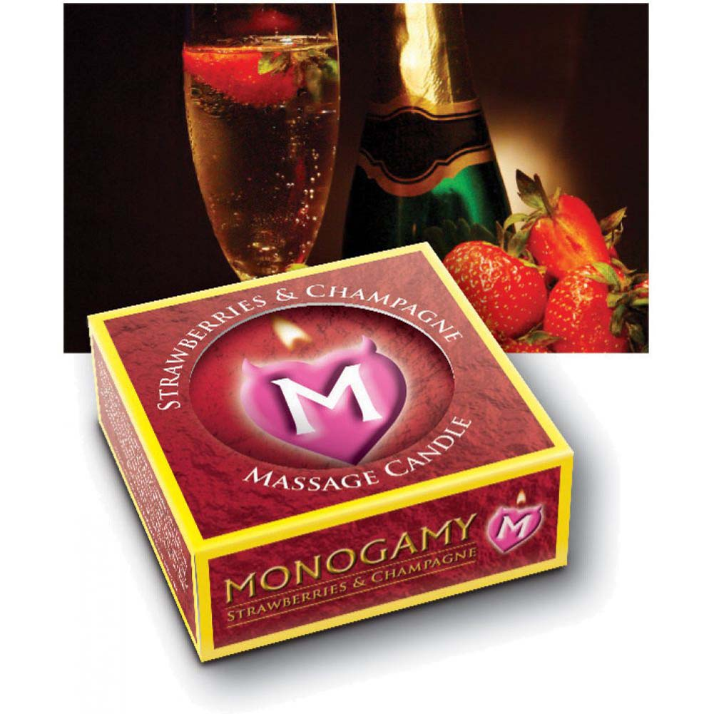 Monogamy Small Massage Candle Intimate Strawberry And Champagne - View #4
