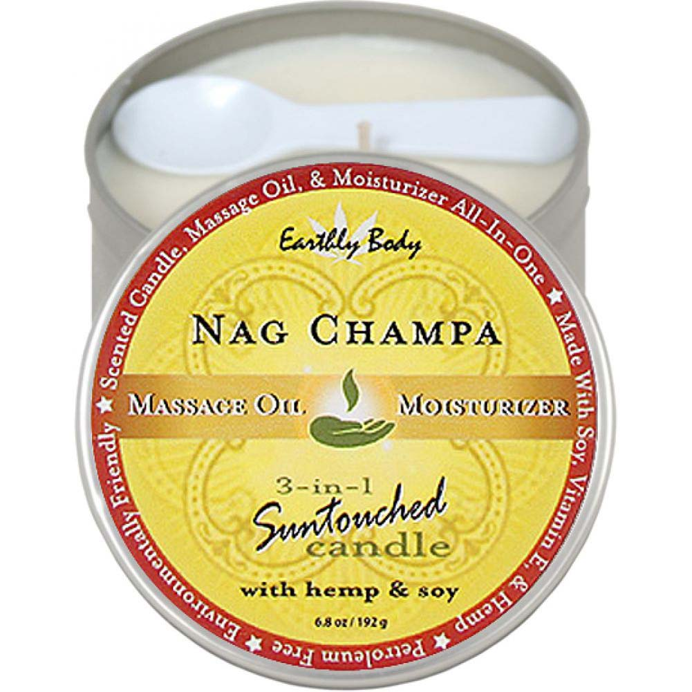 Earthly Body 3-in-1 Suntouched Fragrant Candle With Hemp 6.8 Oz Nag Champa - View #1