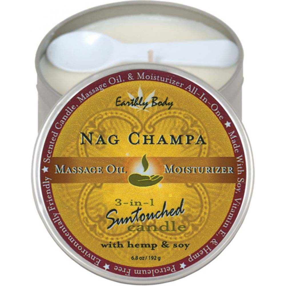 Earthly Body 3-in-1 Suntouched Fragrant Candle With Hemp 6.8 Oz Nag Champa - View #2