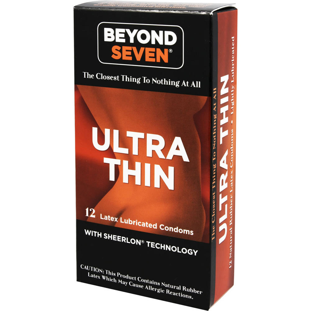 Beyond Seven Lightly Lubricated Latex Condoms 12 Pack - View #2