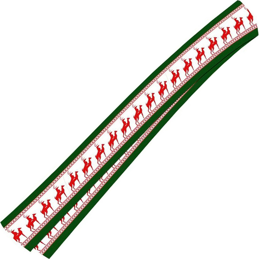 Forum Novelties Naughty Reindeer Games Scarf Novelty Accessory Winter Green/Red - View #2