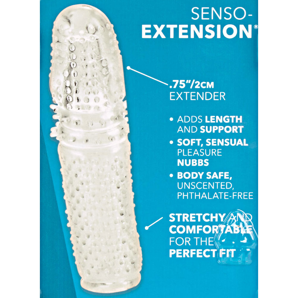"California Exotics Senso Extension with Lube 4.75"" Crystal Clear - View #1"
