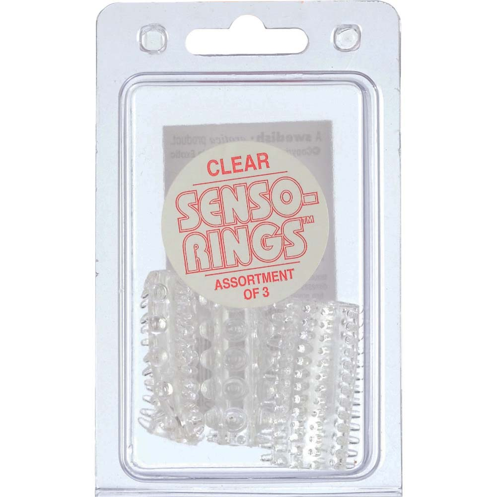 CalExotics Senso Rings Stretchy Cockrings Clear Pack of 3 - View #1