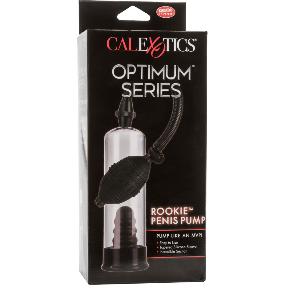 "Optimum Series Rookie Penis Pump 7.5"" by 2.25"" Clear/Black - View #4"