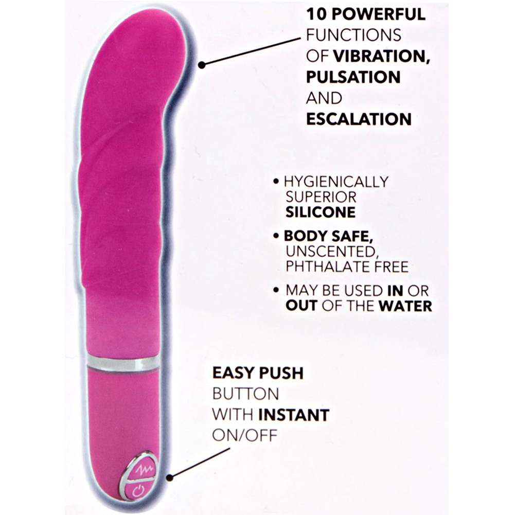 "California Exotics Lia G-Bliss Silicone Vibe 4.25"" Pink - View #1"