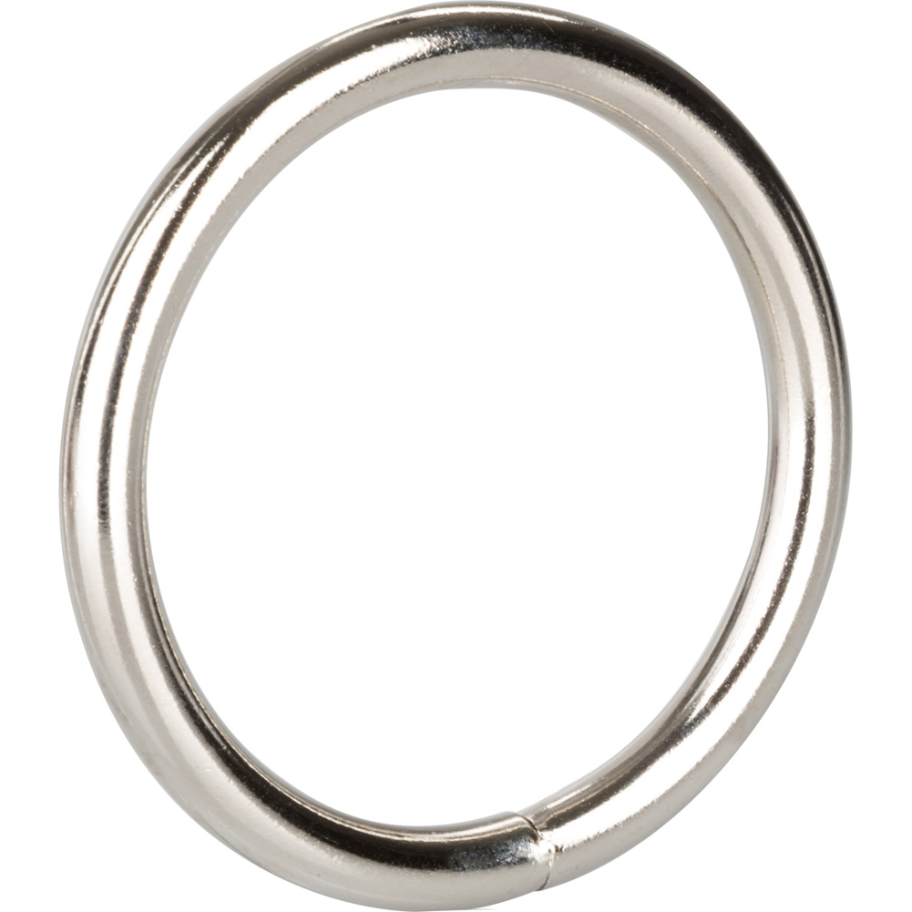 "CalExotics Solid Metal Cock Ring 2"" Silver - View #3"