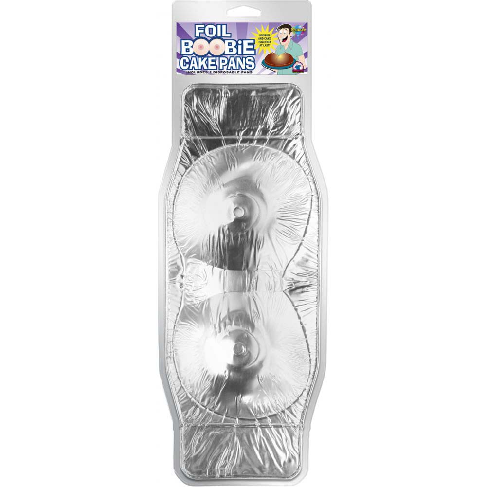 Pipedream Foil Boobie Disposable Cake Pan Set of 2 - View #1