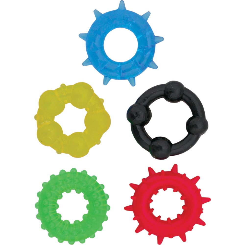 Nasstoys Pleasure Rings 5 Assorted Colors - View #2