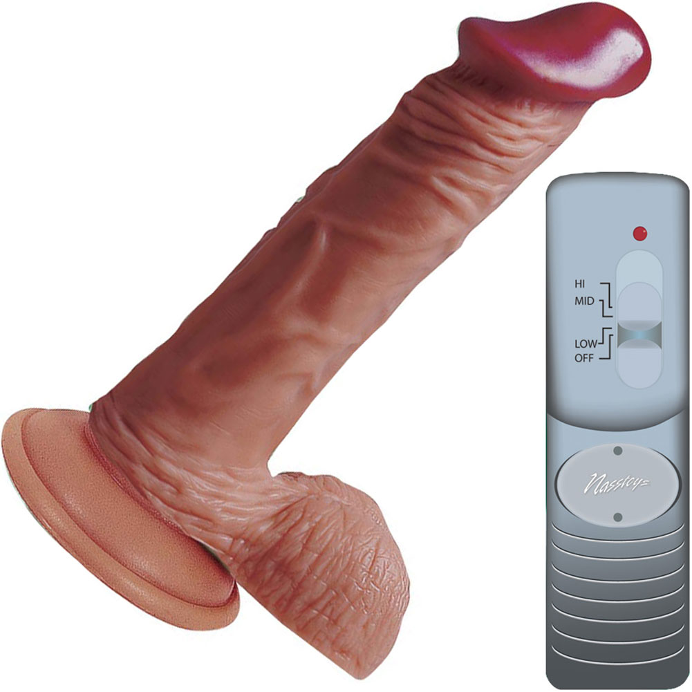 "Nasstoys Lifelikes Vibrating Latin Prince Cock with Suction Cup 6"" Beige - View #2"