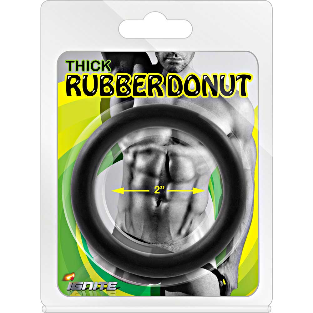 Si Novelties Thick Rubber Donut Cock Ring, 2-2115