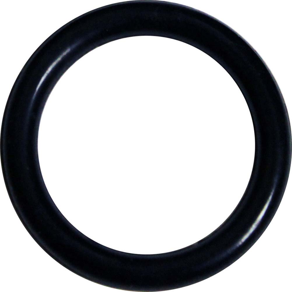 "SportSheets Black Rubber Cock Ring 1.5"" Black - View #1"
