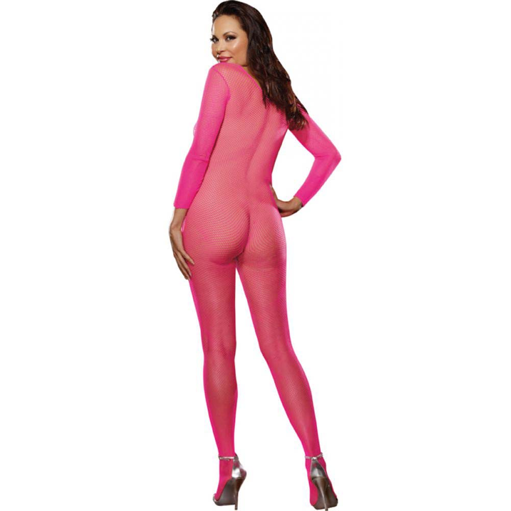 Dreamgirl Fishnet Crotchless Bodystocking Queen Size Pink - View #2