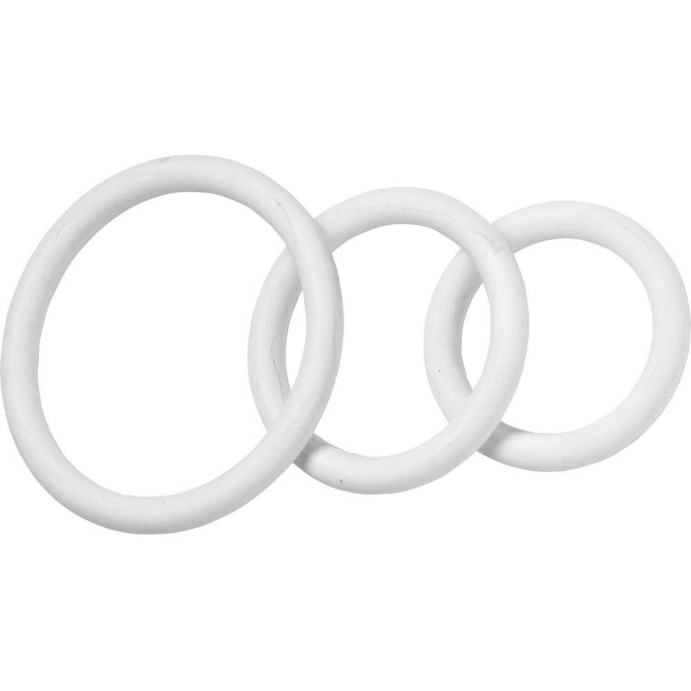 Spartacus Nitrile Cock Ring Set Pack of 3 White - View #2