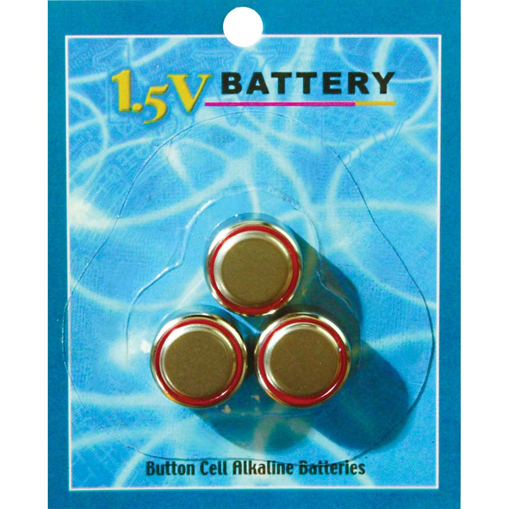 Pipedream 1.5 V AG-13 Watch Batteries 3 Piece Pack - View #1