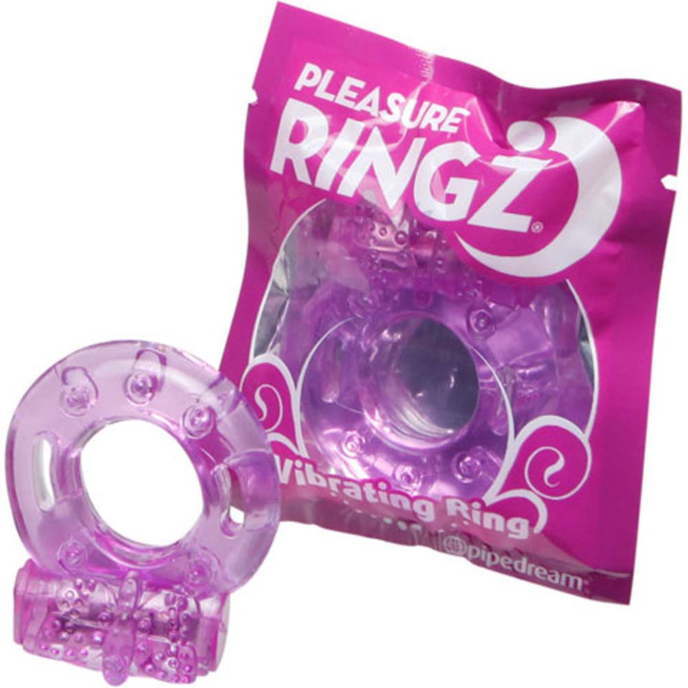 Pipedream Textured Vibrating Jelly Cock Ring Sex Toy Purple Ice - View #1