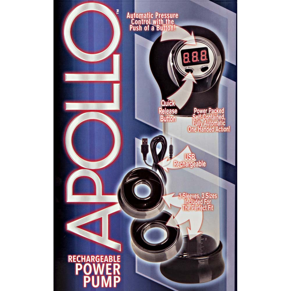 """Apollo Rechargeable Power Pump 7.5"""" by 2.25"""" Black - View #1"""