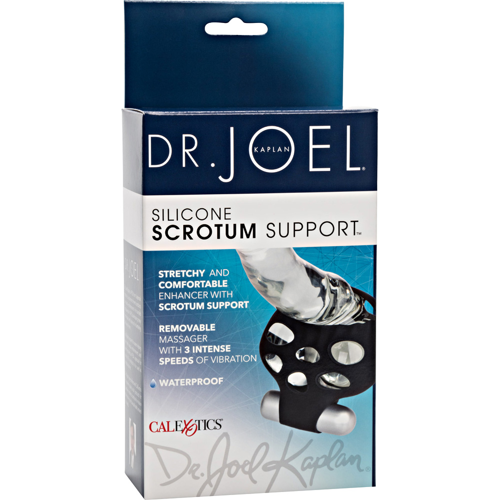 "Dr Joel Silicone Scrotum Support 4"" Black - View #4"