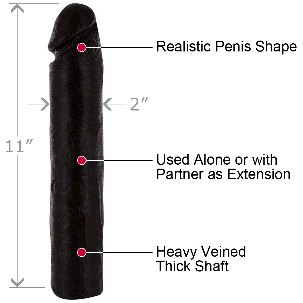 """Doctor LoveS Magnificent Eleven Super Dong Penis Extension 11"""" Black - View #1"""