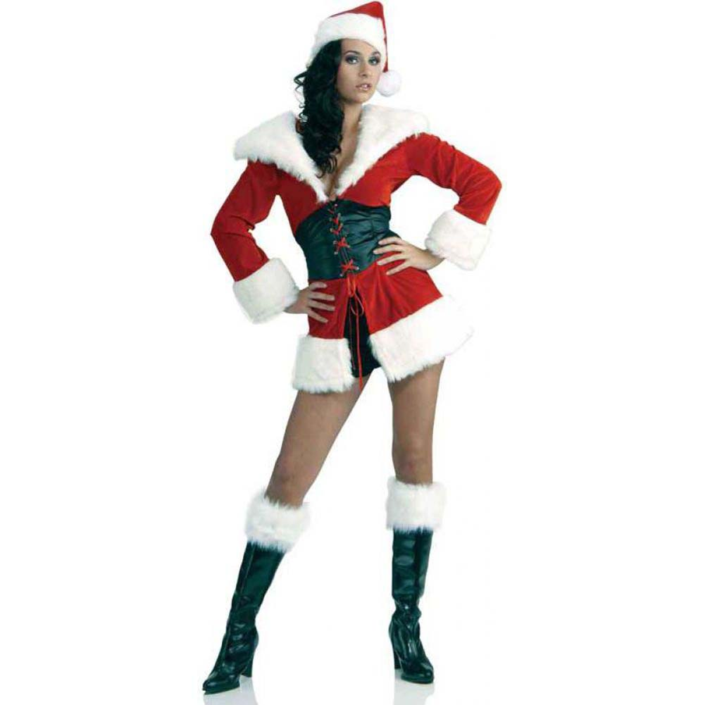 Forum Novelties Short and Sweet Sexy Santa Fur Trimmed Costume Extra Small/Small Red - View #1
